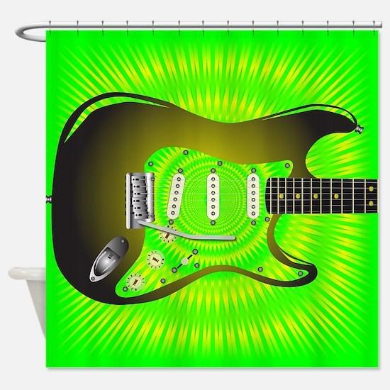 Splash Guitar Shower Curtain
