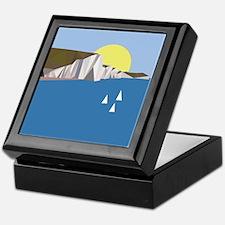 White Cliffs summer Keepsake Box