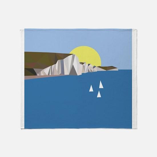 White Cliffs summer Throw Blanket
