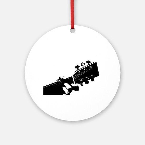 Guitarist Round Ornament