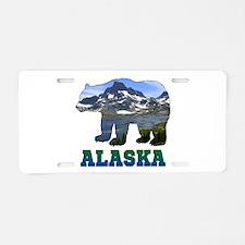 Alaskan Bear Aluminum License Plate