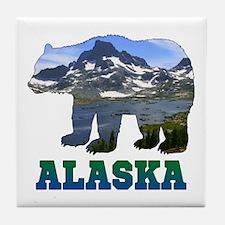 Alaskan Bear Tile Coaster