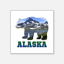 """Alaskan Bear Square Sticker 3"""" x 3"""""""