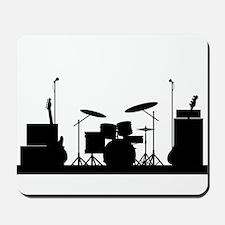 Rock Band Equipment Silhouette Mousepad