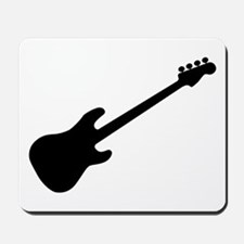 Bass Guitar Silhouette Mousepad