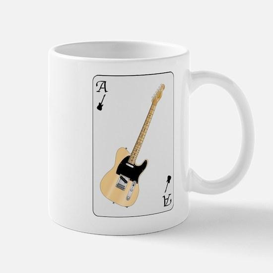 Guitar Playing Card Mugs