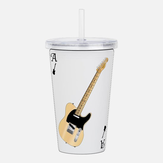 Guitar Playing Card Acrylic Double-wall Tumbler