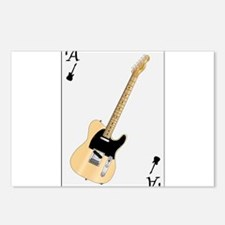 Guitar Playing Card Postcards (Package of 8)
