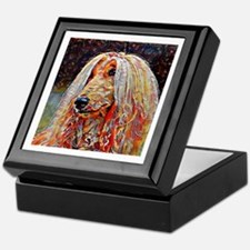 Afghan Hound: A Portrait in Oil Keepsake Box