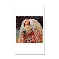 Afghan Hound: A Portrait in Oil Wall Decal