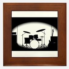 Half Tone Rock Band Poster Framed Tile