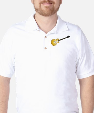 Gold Top Guitar Golf Shirt