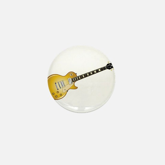 Gold Top Guitar Mini Button