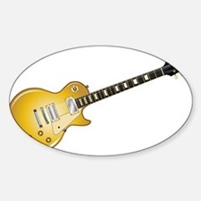 Gold Top Guitar Decal
