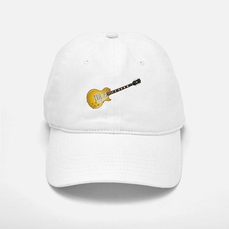 Gold Top Guitar Baseball Baseball Cap