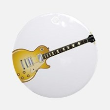 Gold Top Guitar Round Ornament