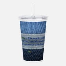 10th Quote; Common sen Acrylic Double-wall Tumbler