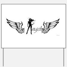 Angel Yard Sign
