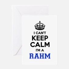 I can't keep calm Im RAHM Greeting Cards