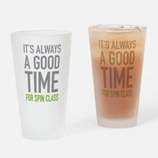 Spin Class Drinking Glass