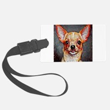 Chihuahua: A Portrait in Oil Luggage Tag