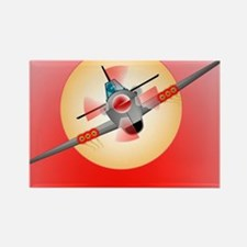 Cute Raf spitfire fighter plane Rectangle Magnet