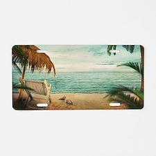 Vintage Beach Aluminum License Plate