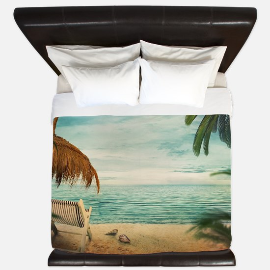 Vintage Beach King Duvet