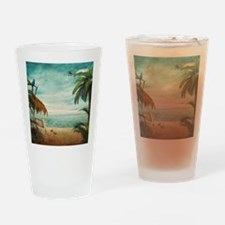Vintage Beach Drinking Glass