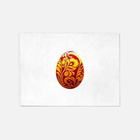Easter egg design art 5'x7'Area Rug