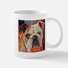English Bulldog: A Portrait in Oil Mug