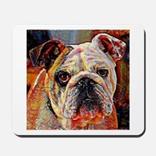 English Bulldog: A Portrait in Oil Mousepad