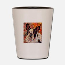 French Bulldog: A Portrait in Oil Shot Glass