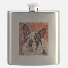 French Bulldog: A Portrait in Oil Flask