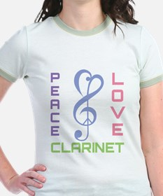 Peace Love Clarinet Music T-Shirt