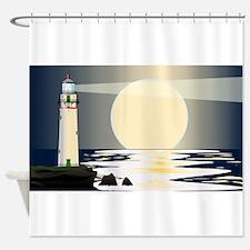 Lighthouse Night Shower Curtain
