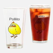 Pollito Malhumorado Drinking Glass