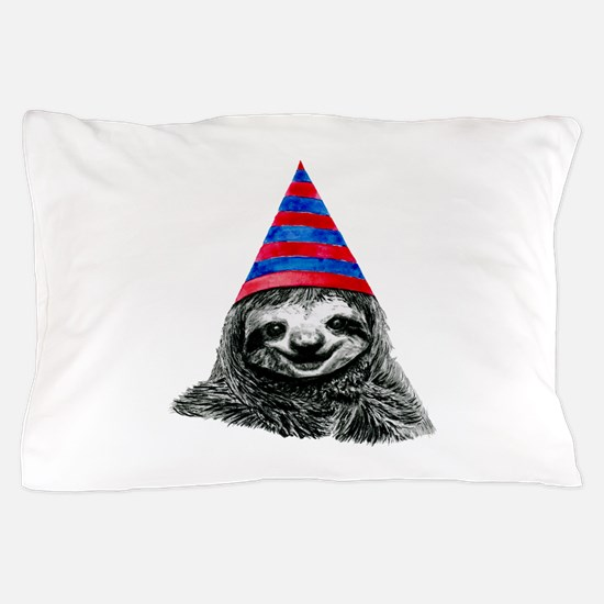 Party Sloth Pillow Case