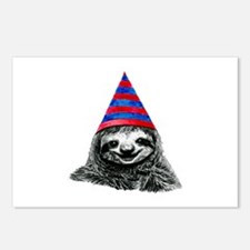 Party Sloth Postcards (Package of 8)