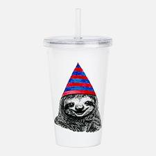 Party Sloth Acrylic Double-wall Tumbler