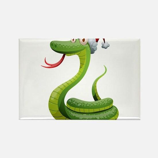 Christmas snake cartoon Magnets