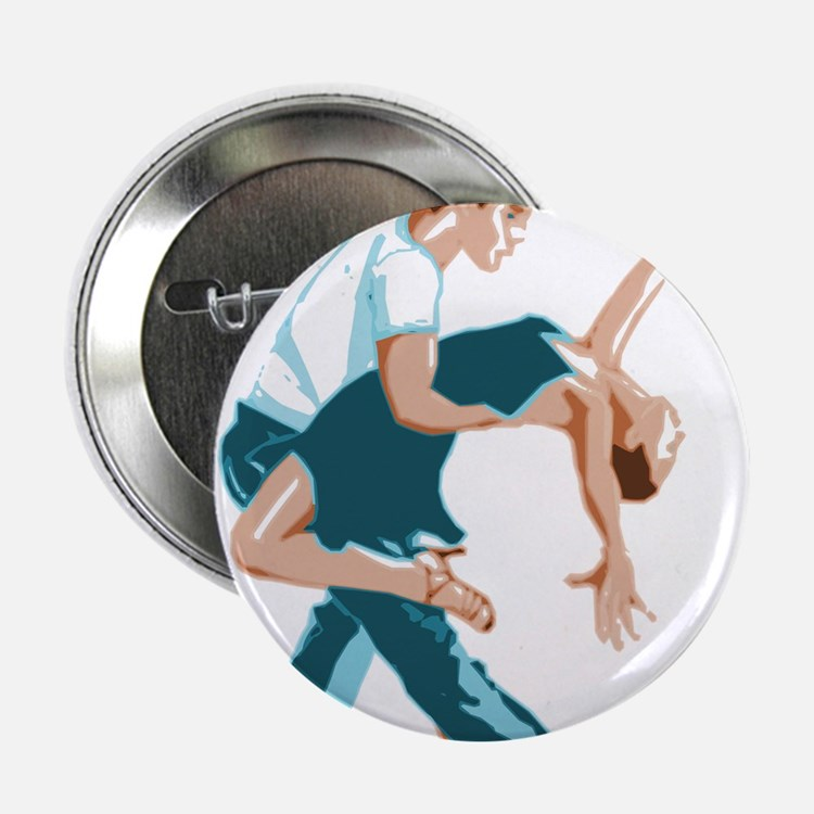 """Salsa Dancers in two-tone c 2.25"""" Button (10 pack)"""