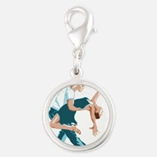 Salsa Dancers in two-tone color Charms