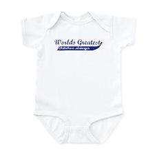 Greatest Database Manager Infant Bodysuit