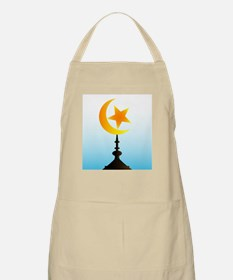 Crescent Moon and Star With Sky Apron