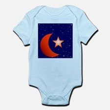 Crescent Moon and Star Studded Sky Body Suit