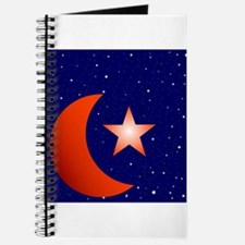 Crescent Moon and Star Studded Sky Journal
