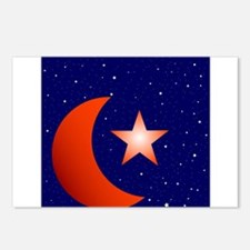 Crescent Moon and Star St Postcards (Package of 8)