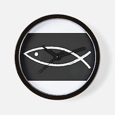 Christian Fish Chalkboard Wall Clock