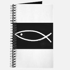Christian Fish Chalkboard Journal